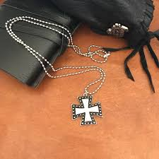 man necklace gift images Travel gift mens cross necklace biker jewelry iron cross pendant jpg