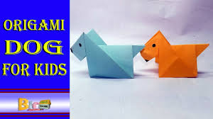 origami dog for kids easy paper work youtube