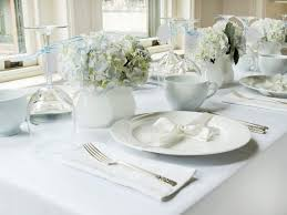 wedding shower table decorations white and blue bridal shower brunch hgtv