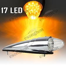 Teardrop Cab Lights by 17 Led Clear Amber Semi Truck Top Clearance Roof Cab Marker Light