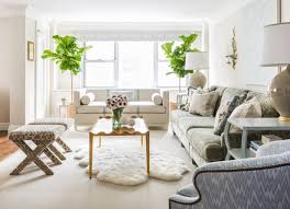 Accent Chair With Brown Leather Sofa Living Room White Wall Paint Colors Nice White Wool Shag Rug Nice