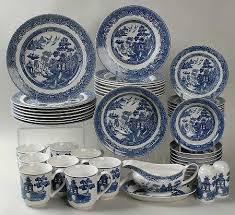 Johnson Brothers Dinnerware Dinnerware Johnson Johnson Brothers Willow Blue 1883 Backst China At