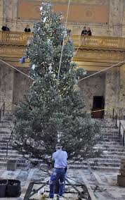 photo raising the capitol christmas tree the spokesman review