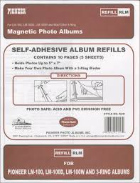 magnetic photo album pioneer magnetic photo album refill pages 8 25 x10 5 5 pkg