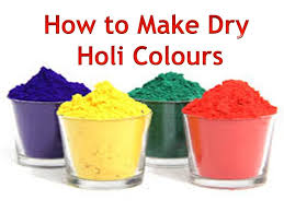 how to make powder dry holi colours youtube