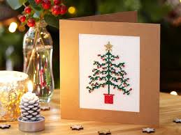 how to make christmas how to make a cross stitch christmas tree card