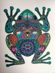 anyone like frogs just finished coloring the second page of my