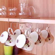becher k che hohe qualität edelstahl küche rack hängen kaffee teetasse becher