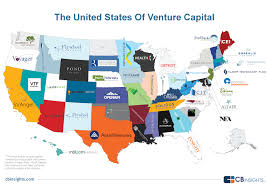 United States Map With States And Capitals by Vc Nation The Most Active Tech Venture Capital Firm Into Each Us