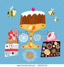 decorative cakes bright decorative cakes stock vector 109572740