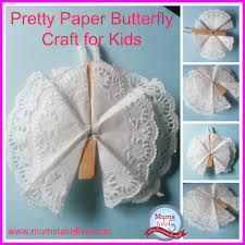 butterfly paper peg craft for kids