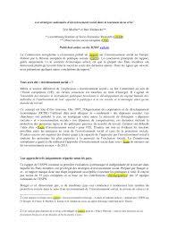 le si e social les stratégies nationales pdf available
