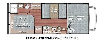 coachmen class c motorhome floor plans 2018 gulf stream conquest 6237le u2013 stock cq18001 the rv man