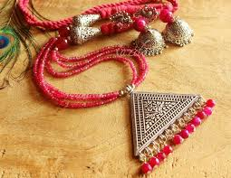 beaded necklace pendant images Layered jewellery buy layered jewellery online jpg
