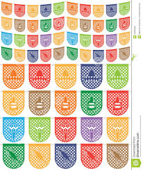 mexican bunting stock vector image 44359239