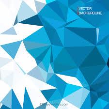 blue polygonal pattern background design 123freevectors
