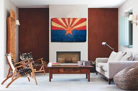 arizona flag handmade distressed painted wood vintage art