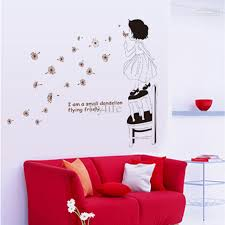 lovely blowing dandelion and inspirational quotes art wall