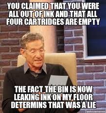 Printer Meme - scumbag printer meme guy