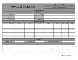 catering quote template quotation templates quote templates