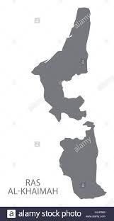 United Arab Emirates Map Ras Al Khaimah United Arab Emirates Map In Grey Stock Vector Art