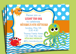Create An Invitation Card Free Under The Sea Invitation Printable Or Printed With Free