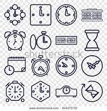 clock icons 9 clock stock vector 581562367 shutterstock