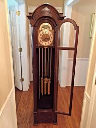 vintage hanson clock co grandfather clock winterhalder u0026 hofmeier
