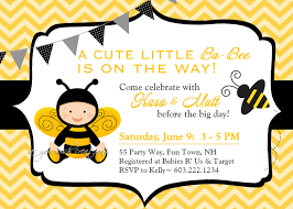 Babyshower Invitation Card Bumble Bee Baby Shower Invitation Theruntime Com