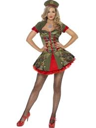 Army Soldier Halloween Costume Deluxe Fever Boutique Army Soldier Lady Fancy Dress Costume