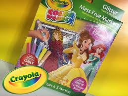 color with me disney crayola princess glitter color wonder set