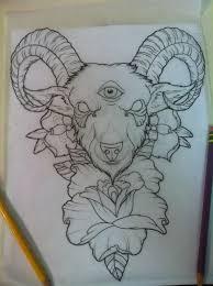 female thigh tattoo designs goat head tattoo designs google search rock them tatts