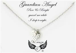 pendant engraving guardian angel wing heart pendant personalised engraved name necklace