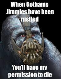 Gorilla Munch Meme - image gorilla munch jimmies bane jimmies rustled permission to die