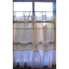 amazon com custom farmhouse curtain natural sheer linen lace