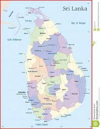Map Of Sri Lanka Sri Lanka Map Stock Illustration Image Of East Contour 28101717