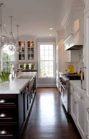 Two Tone Kitchen Cabinets Black And White 33 Best Galley Kitchen Images On Pinterest Dream Kitchens