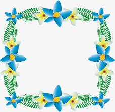 Blue Flower Vine - sky blue fine flower borders vector png blue flowers exquisite
