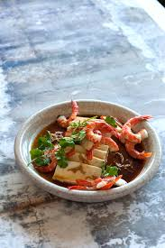 cold tofu with prawns and sour dressing recipe sbs food