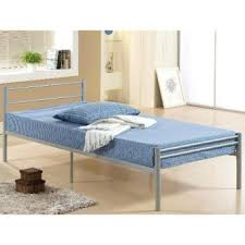 single steel metal bed with wood slab silver color lazada malaysia