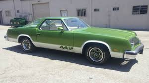 rare manual 1976 olds 442 in lovely green