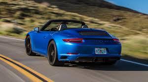 blue porsche convertible 2018 porsche 911 carrera gts first drive better in all the right ways