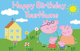peppa pig birthday peppa pig birthday banner family