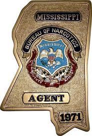 plaque bureau mississippi bureau of narcotics badge plaque state