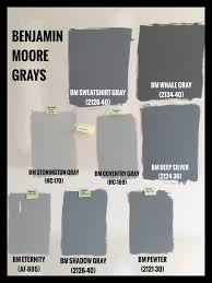 Benjamin More Benjamin Moore Gray Paint Swatches Bm Sweatshirt Gray 2125 40