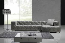 Grey Leather Sectional Sofa Gray Leather Sectional Sofa Set Modern Living Room Los