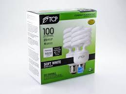 23 volt 3 watt light bulbs tcp 100w incandescent equivalent 23 watt 120 volt warm white cfl