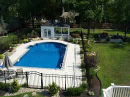 exterior inground pool fence simple and inexpensive design pool