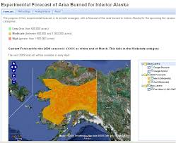 Alaska Fire Map by Improving Seasonal Fire Predictions And Information Services In