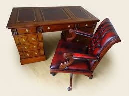 Leather Captains Chairs 4 5 Ft X 2 5ft Carved Solid Wood New Leather Top Desk U0026 Captains